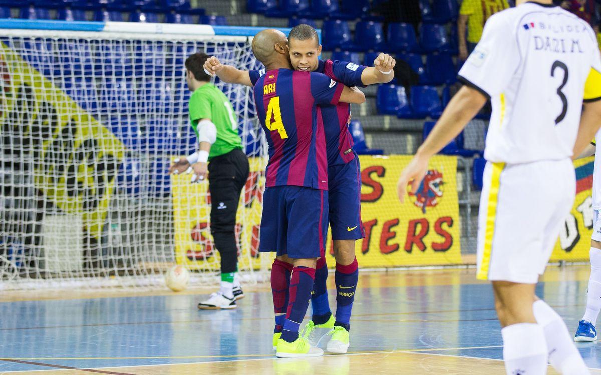 Santiago Futsal v FC Barcelona: Ready to face Inter as leaders (1-4)