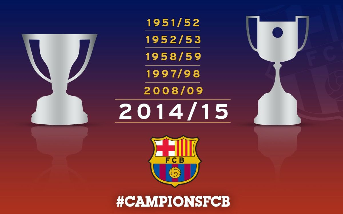 FC Barcelona win sixth league and cup double