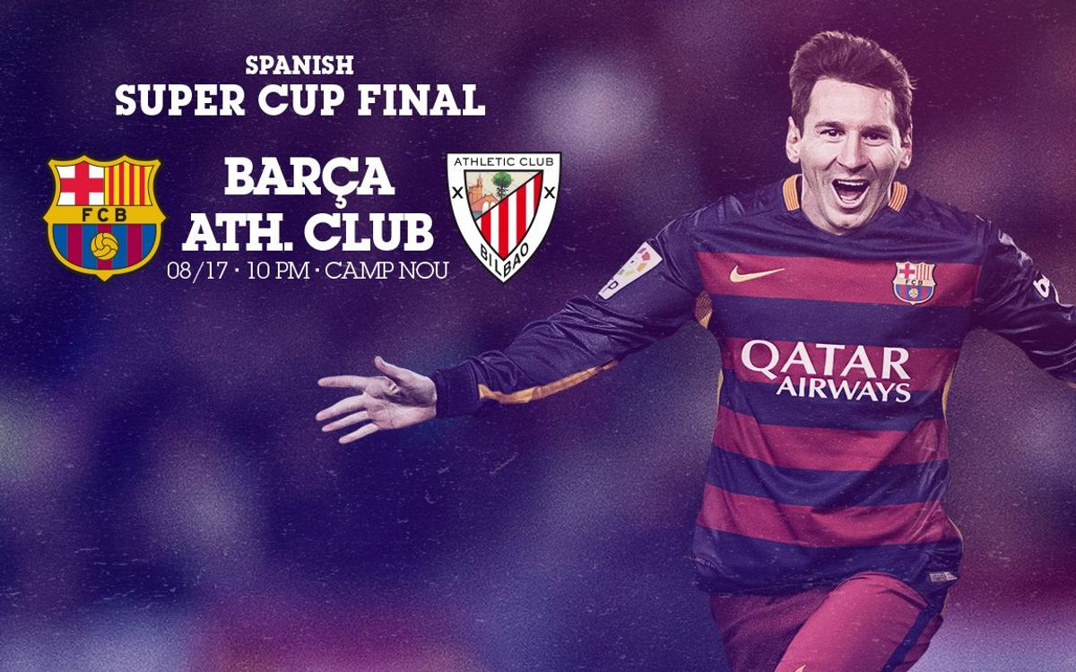 FC Barcelona v Athletic Club Spanish Super Cup tickets on sale