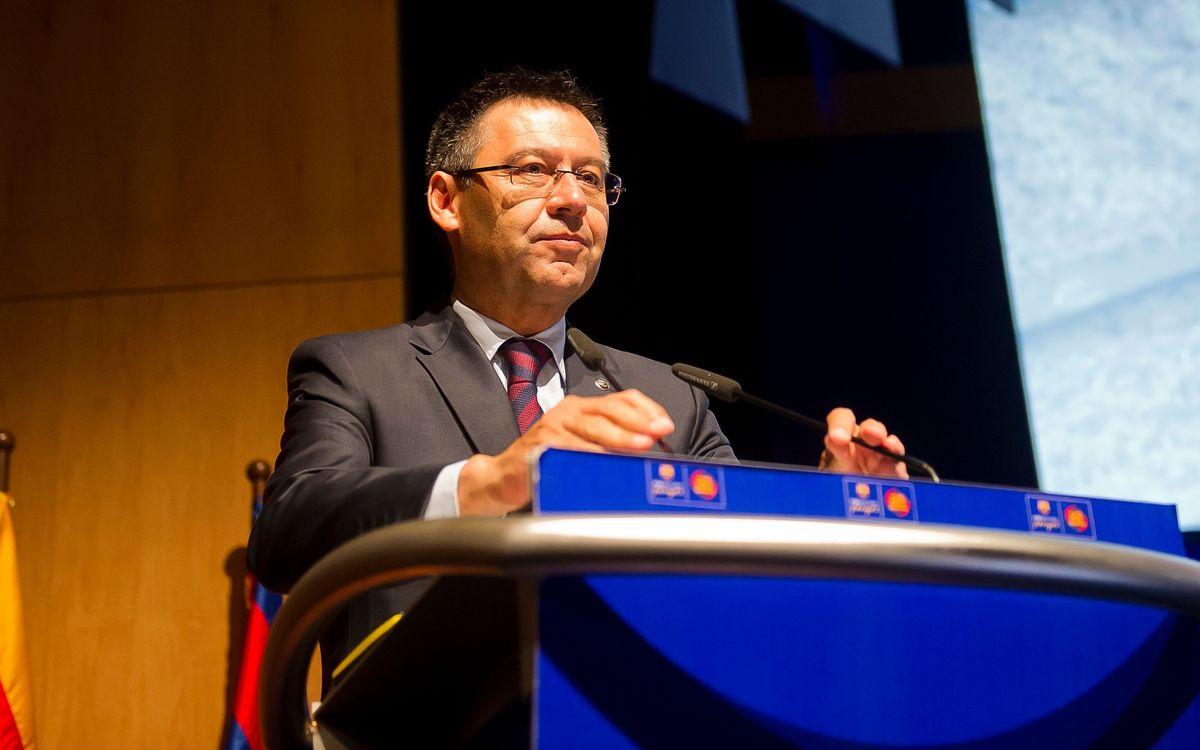 'Room for everyone' at FC Barcelona says Josep Maria Bartomeu