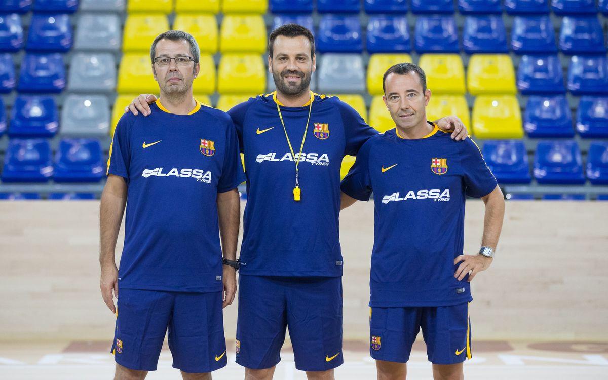 La nova cara de l'equip tècnic del Barça d'hoquei