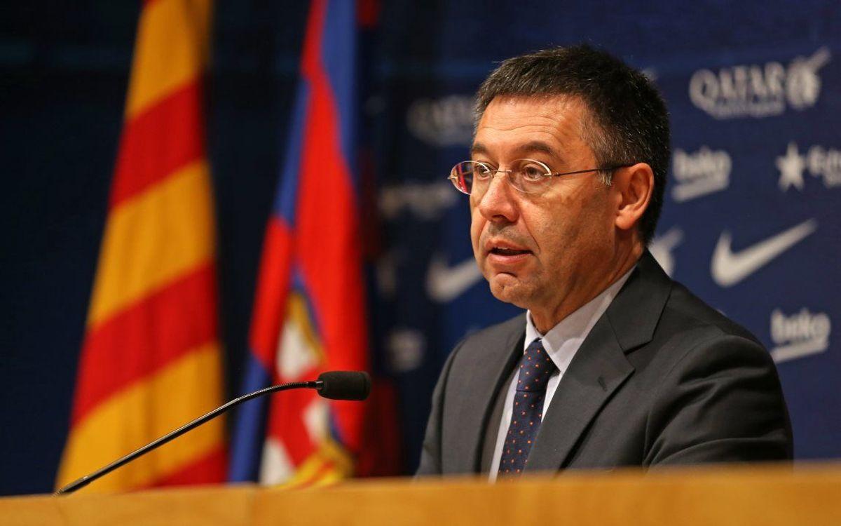 Informe de Josep Maria Bartomeu en l'acte del Senat 2015
