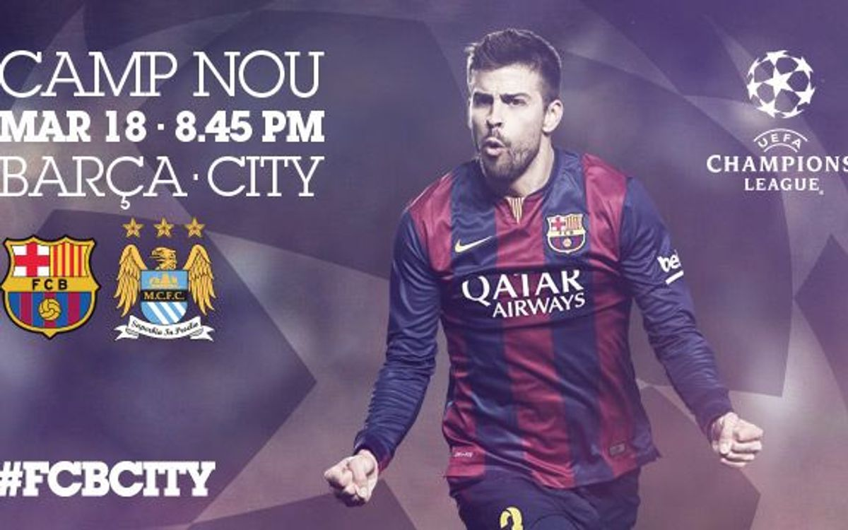 FC Barcelona v Manchester City: Tickets for non season ticket holding members on sale Thursday 12