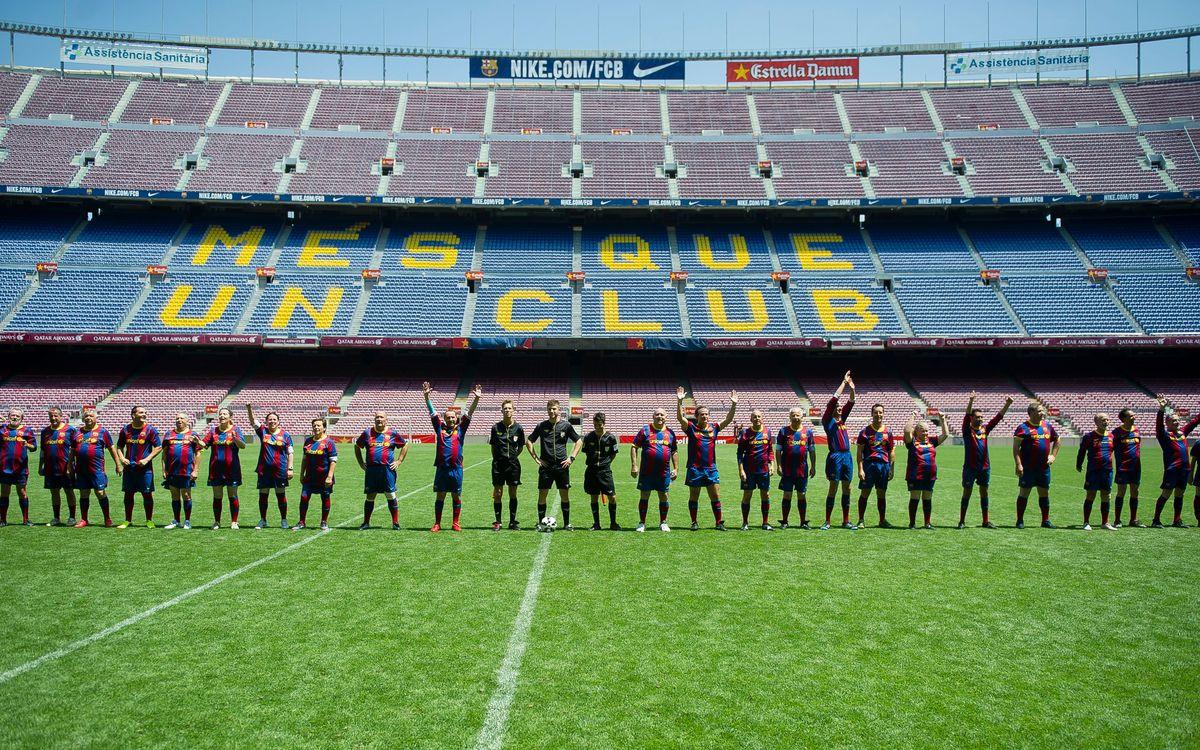 Els socis amb abonament Camp Ple juguen al Camp Nou
