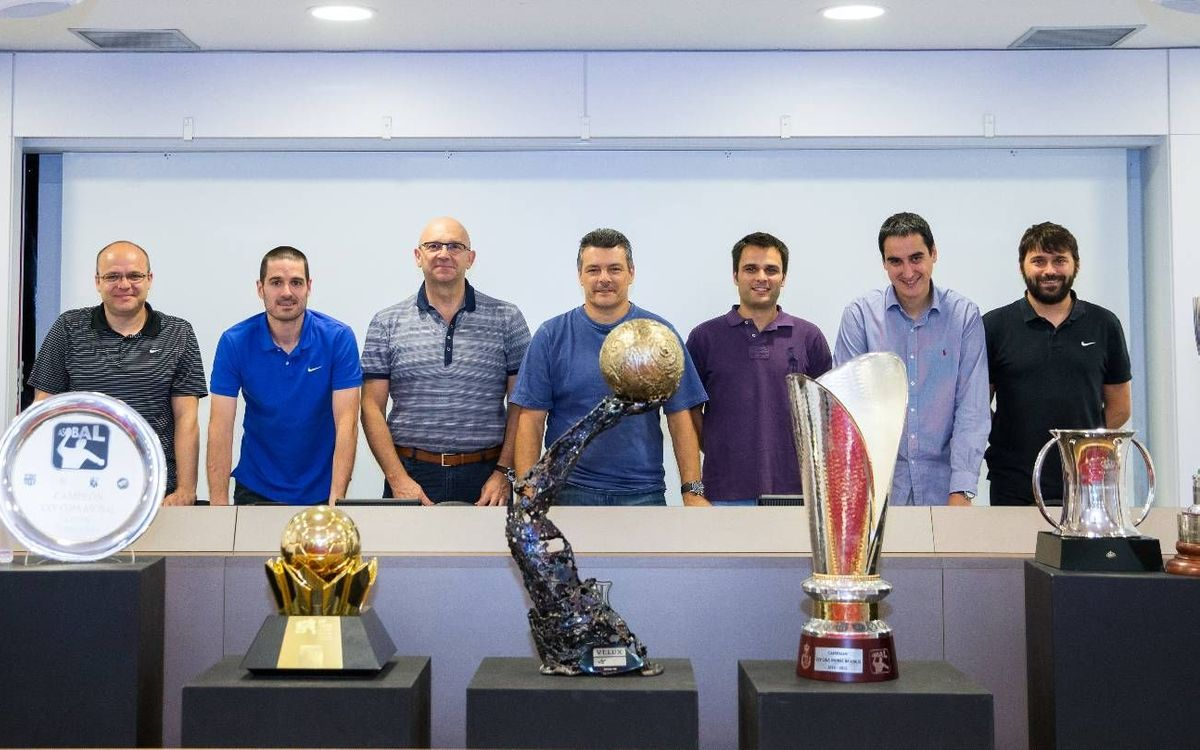 The seven trophies and the men that helped to win them
