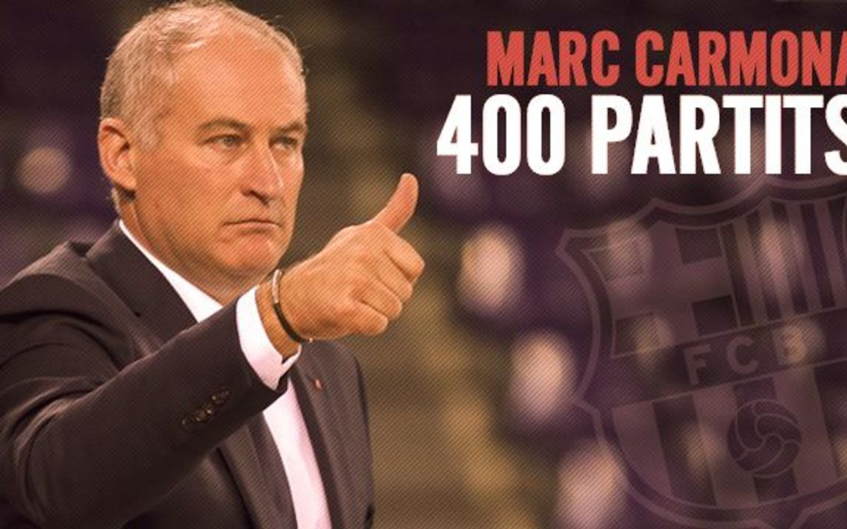 Marc Carmona, 400 partits dirigint el FC Barcelona
