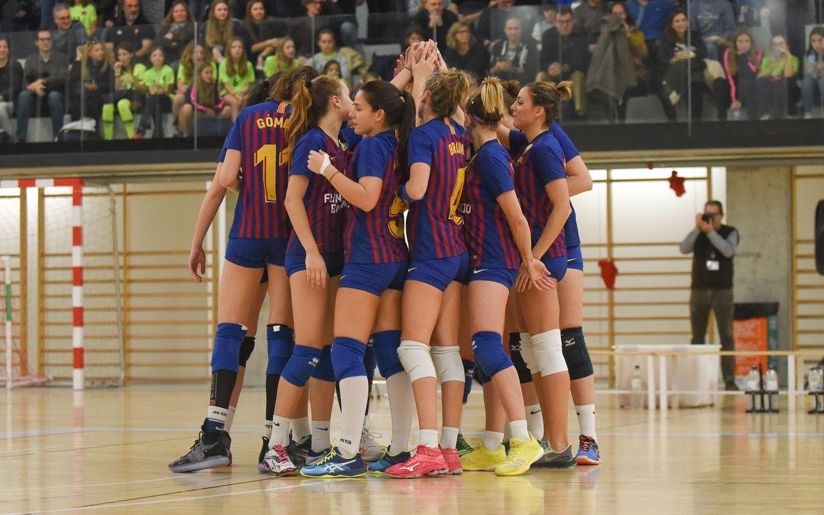 El Barça femení sua per guanyar el Menorca, i el masculí segueix en la lluita per la permanència