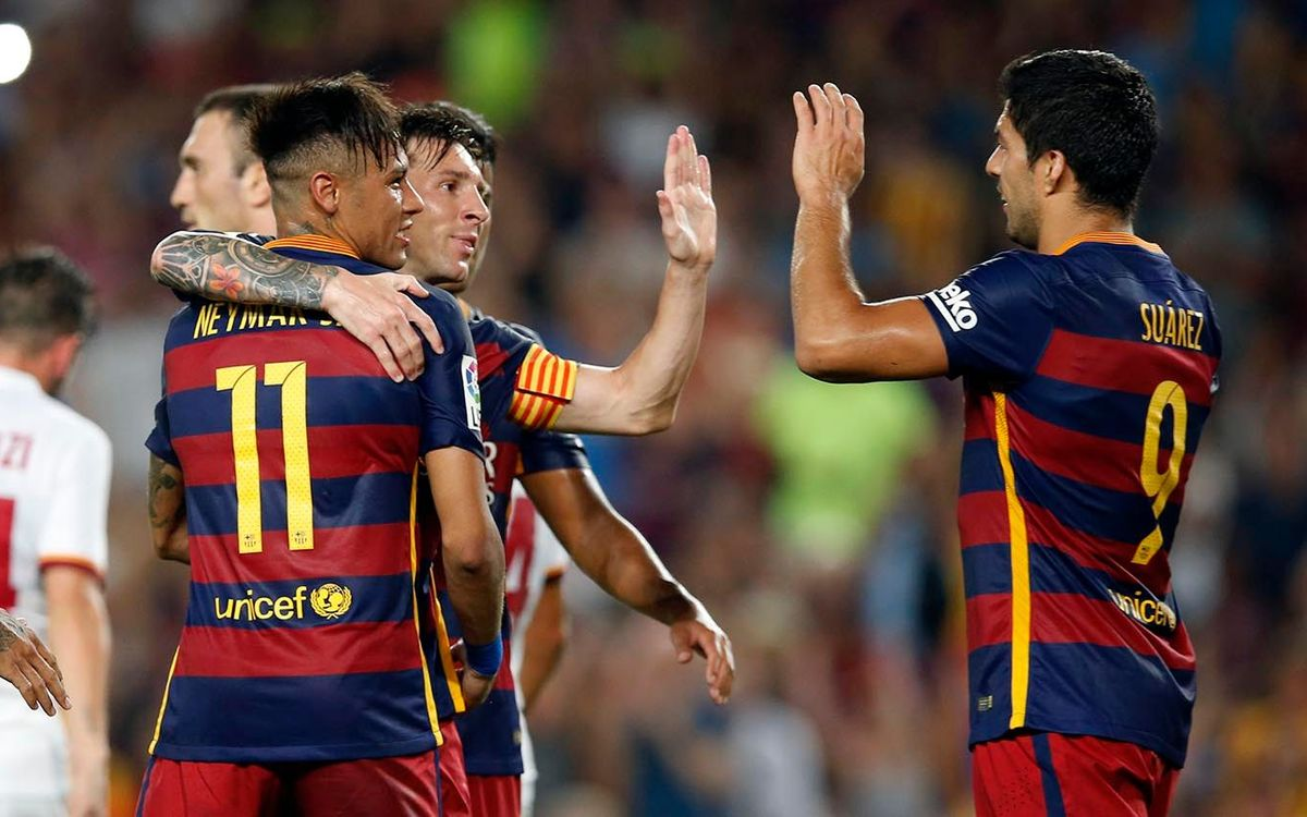 Happy Gamper for FC Barcelona against Roma (3-0)