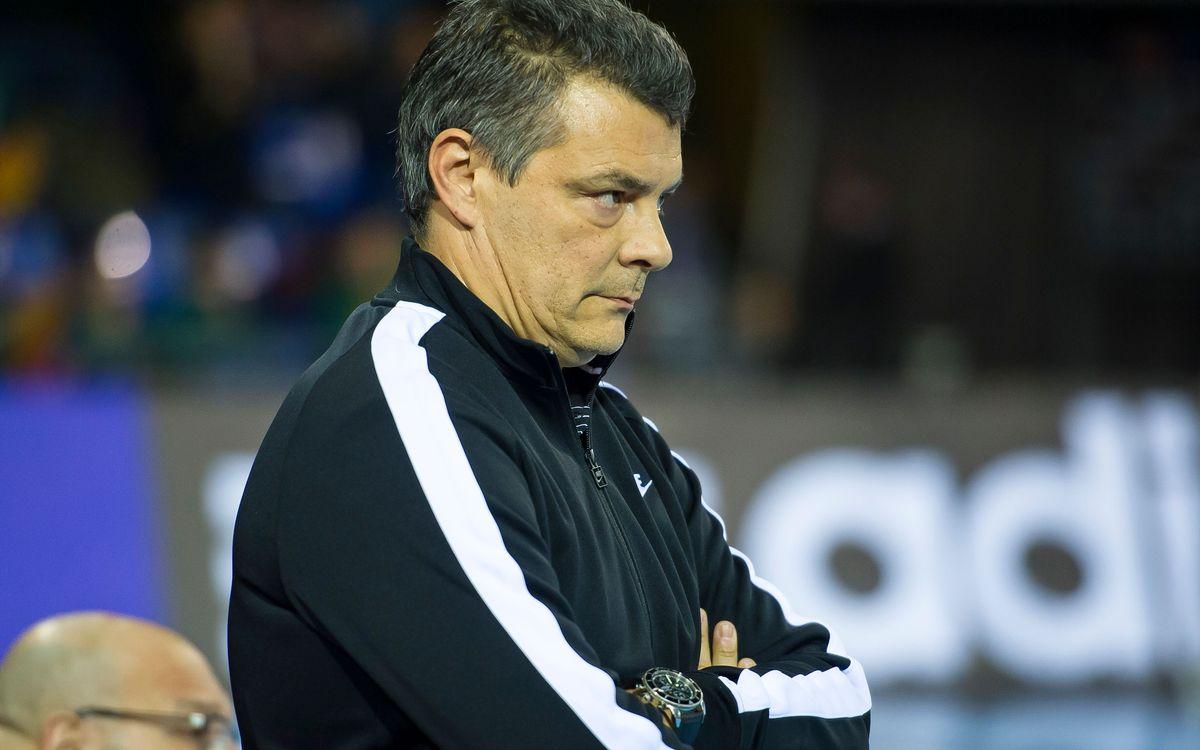 """Xavi Pascual: """"Davant el Zagreb necessitem sentir que juguem a casa"""""""