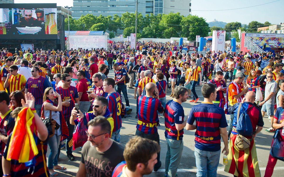 La Fan Zone, punt de trobada de l'afició del Barça