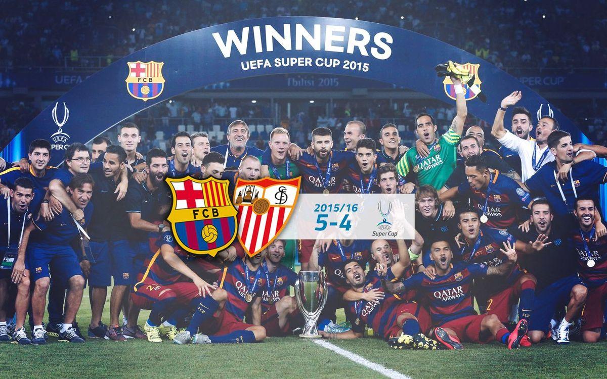 FC Barcelona: 5 - Sevilla FC: 4