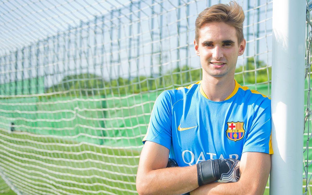 El Barça B incorpora el porter Jokin Ezkieta