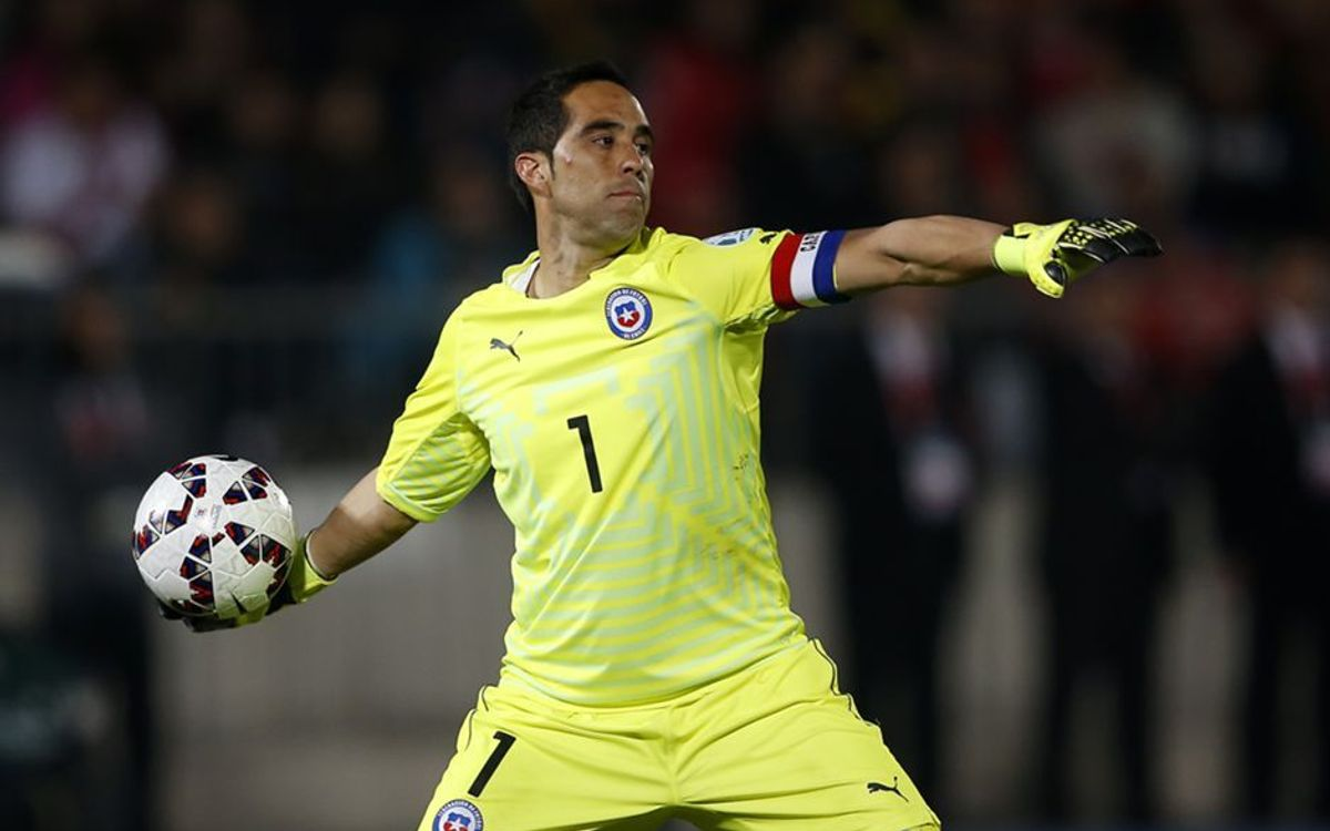 Claudio Bravo the leader of finalists Chile