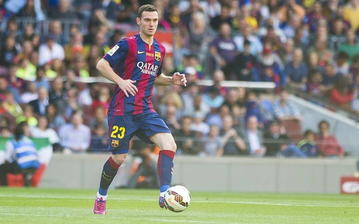 Thomas Vermaelen makes FC Barcelona debut
