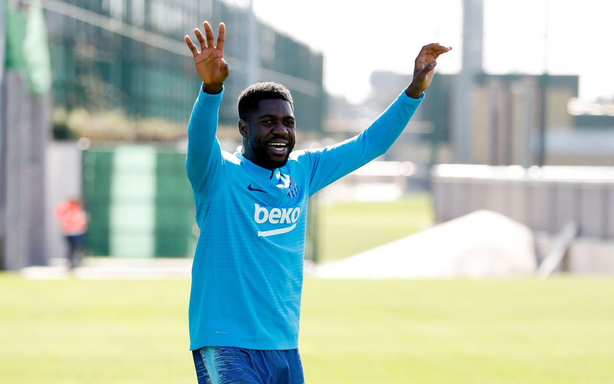 Umtiti: 'The most important thing is that my knee is OK'