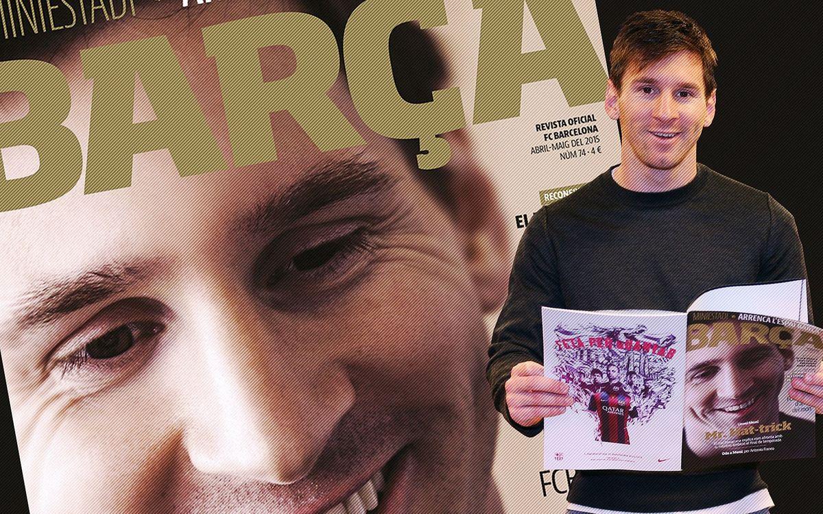 Messi, protagonista de la nova revista Barça