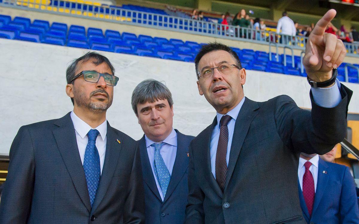 Visita del Ministre de Joventut i Esport de Qatar a les instal·lacions del FC Barcelona