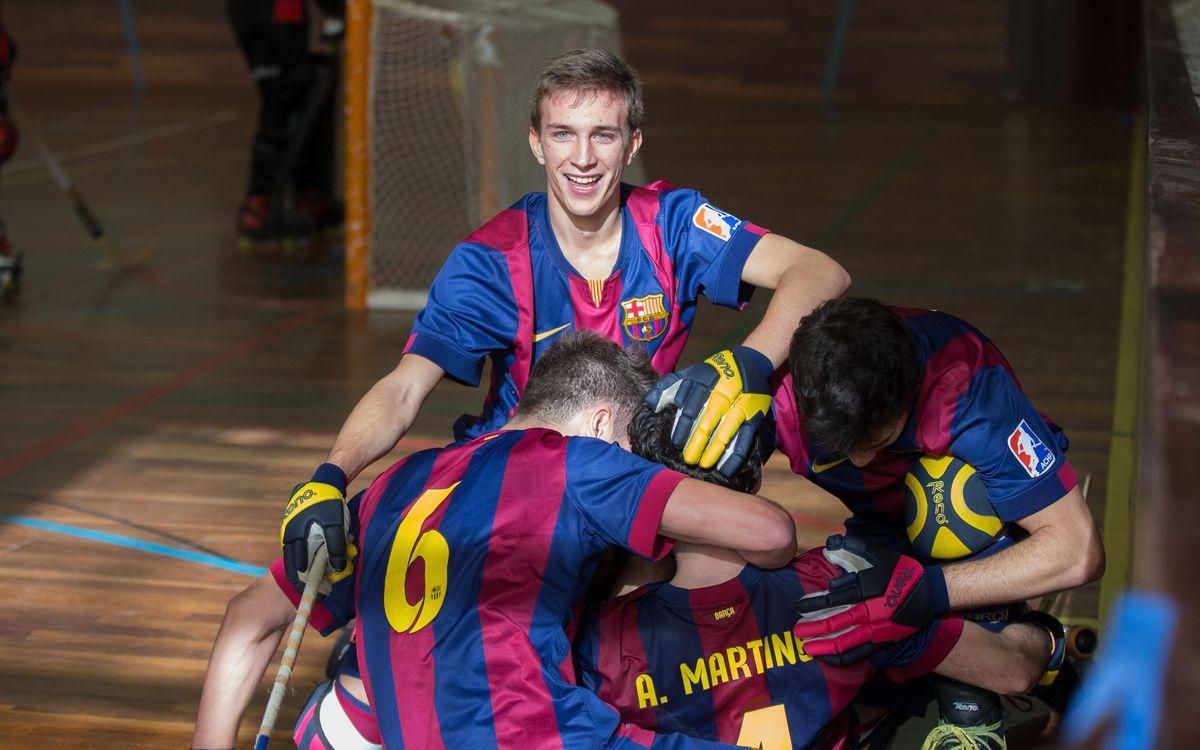 Triomf contundent del Barça B d'hoquei