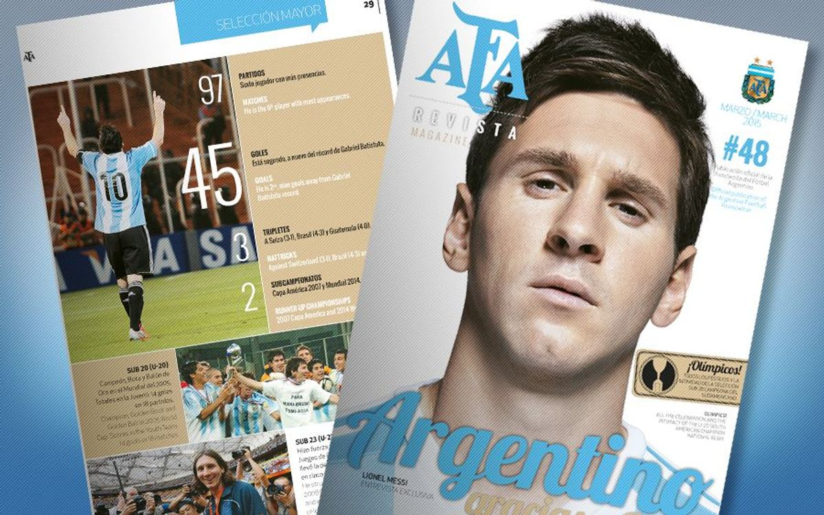 Lionel Messi makes cover of AFA magazine