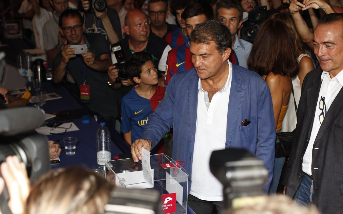 Huge turnout a great sign, says Laporta