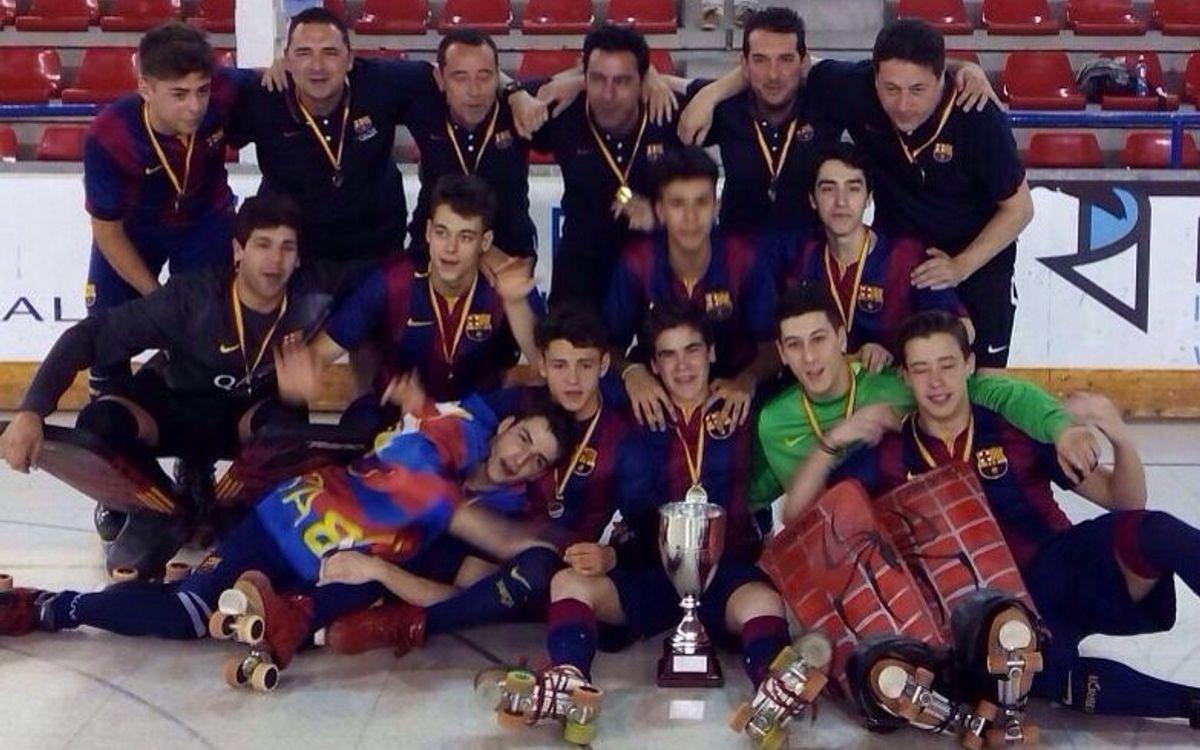 El Juvenil del Barça d'hoquei, campió d'Espanya