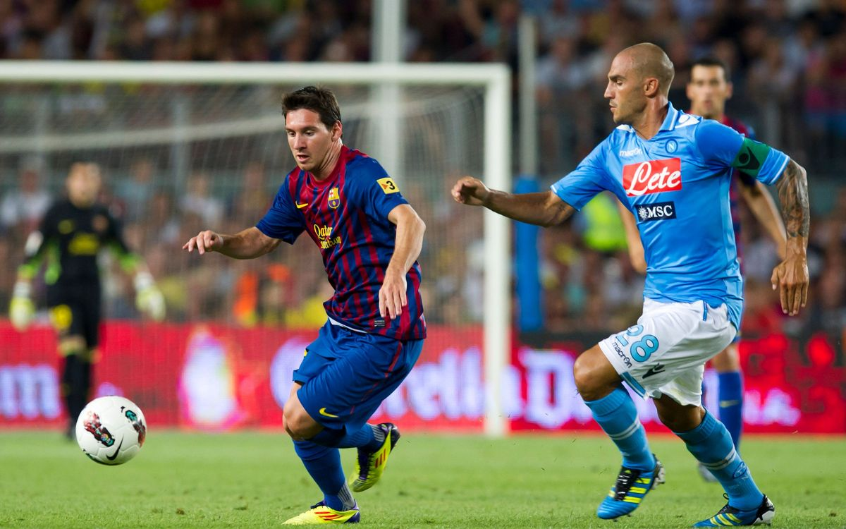 FC Barcelona v AS Roma, twelfth appearance of an Italian team at Joan Gamper Trophy