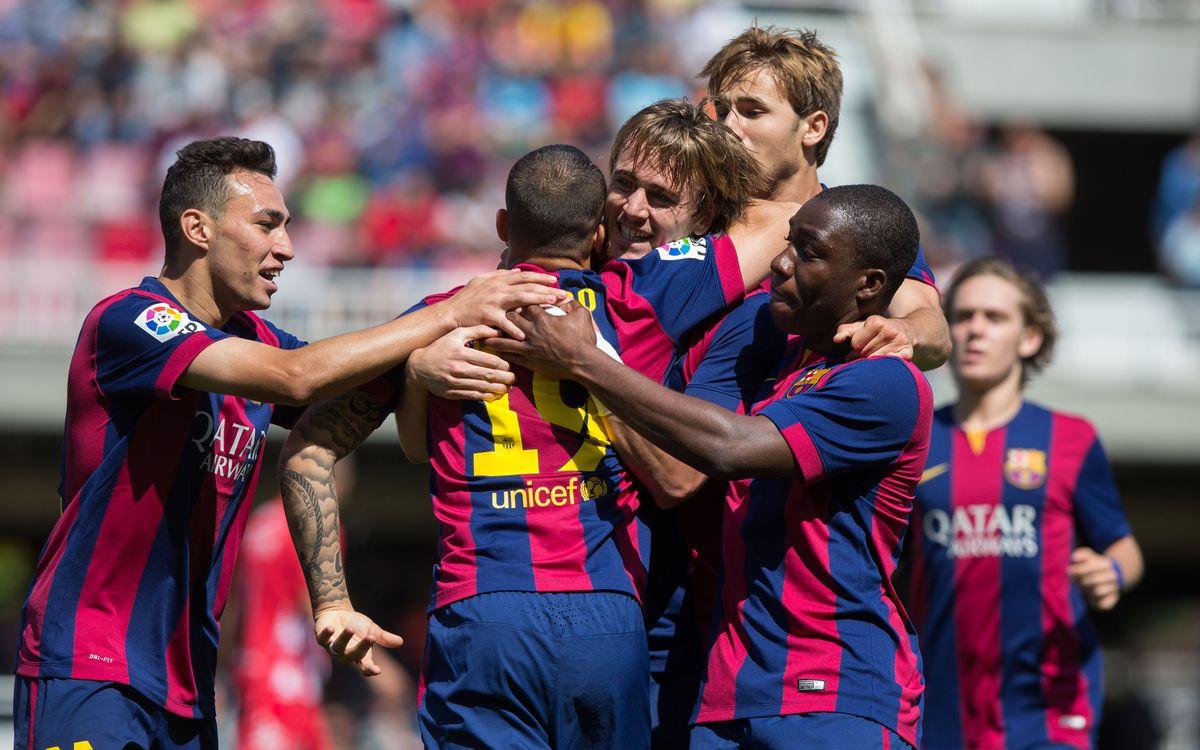 Cinc jugadors del Barça B, premiats per Futbol Draft com a joves talents