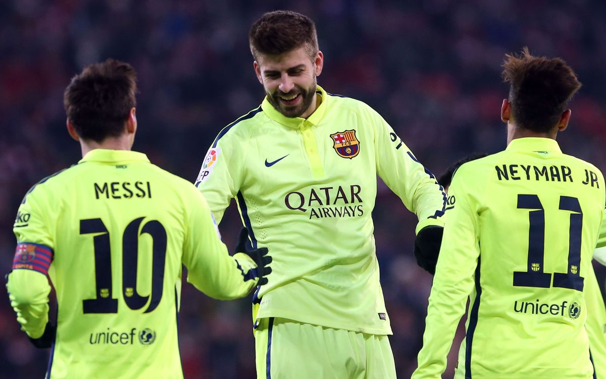 Gerard Piqué makes 300th appearance for FC Barcelona