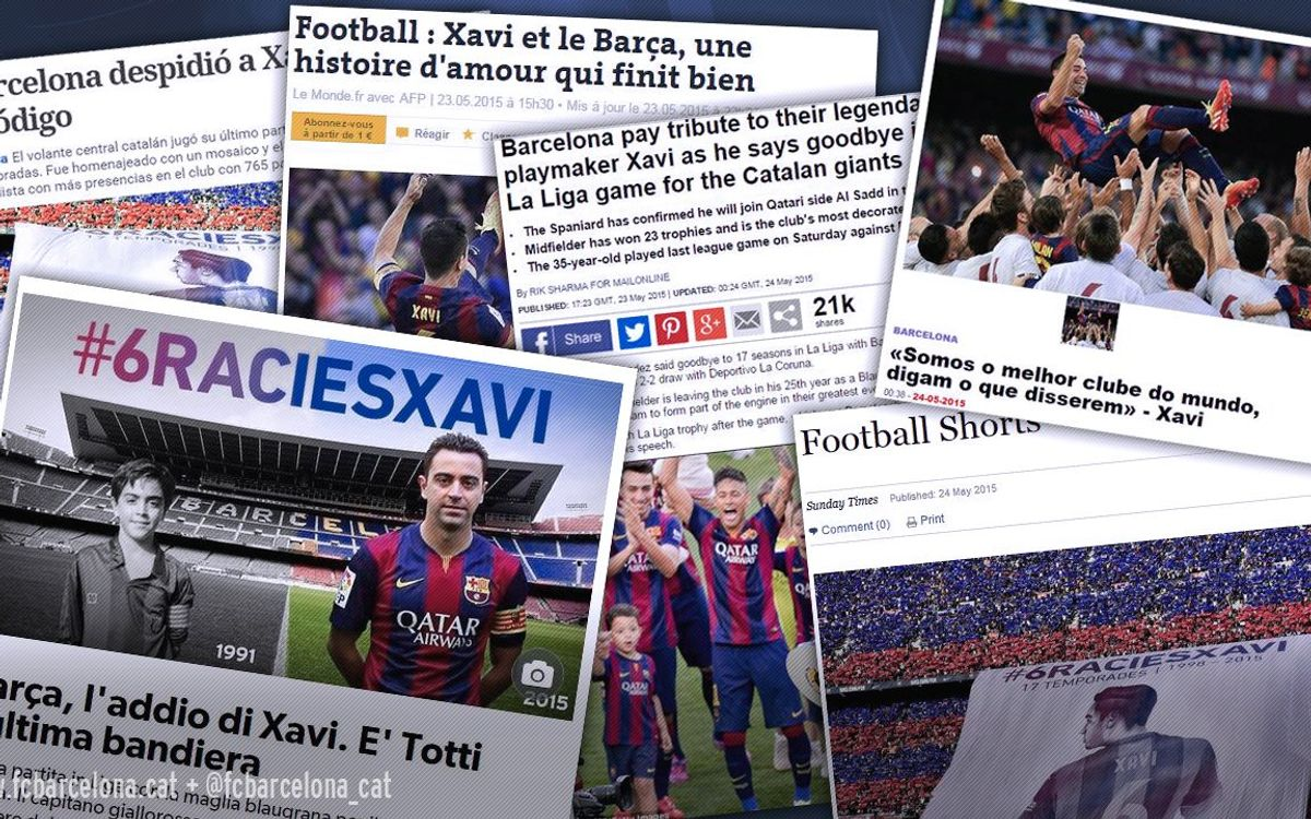 Xavi's farewell in the international press