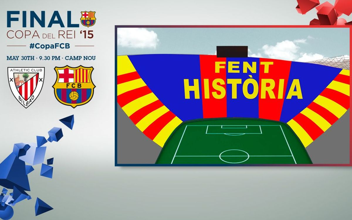 See what the mosaic will look like at the Spanish Cup Final