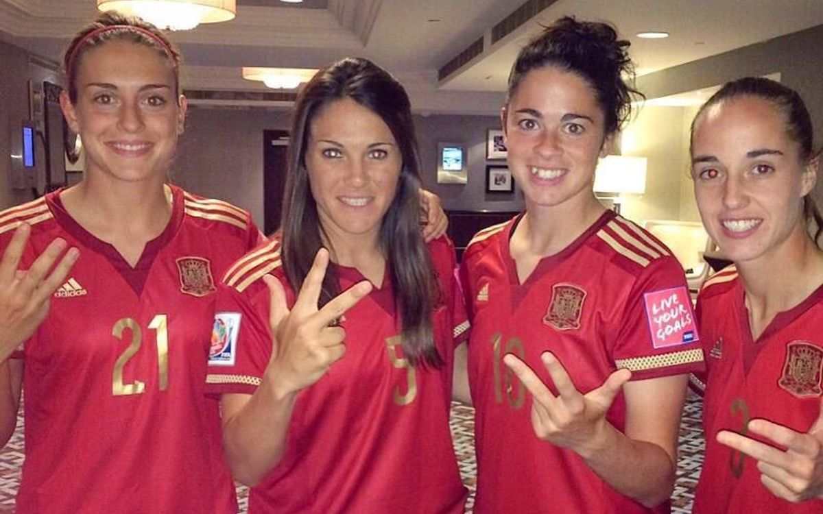 Nou blaugranes a l'estrena de la selecció espanyola al Mundial femení