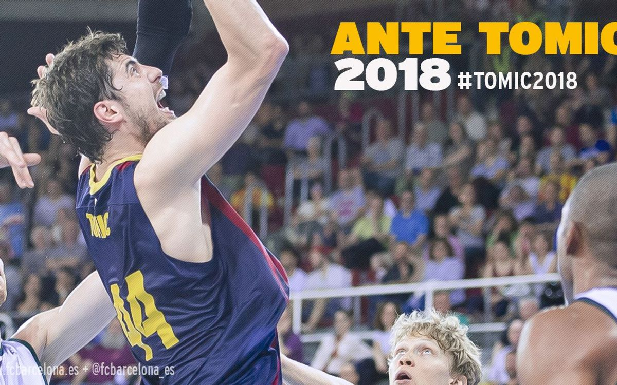 Tomic to stay at FC Barcelona until 2018