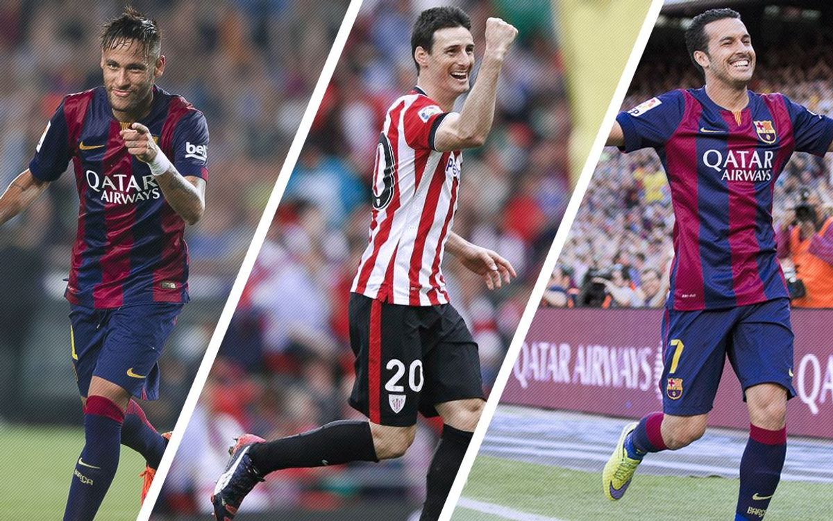 Neymar, Pedro, and Aritz Aduriz fight for Spanish Cup scoring title