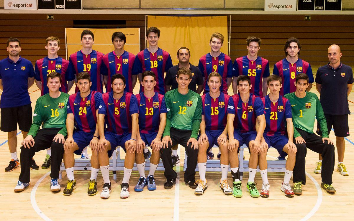 El juvenil del Barça d'handbol, campió d'Espanya