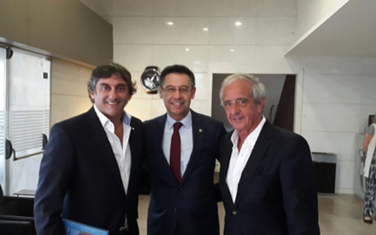 Visita institucional de River Plate
