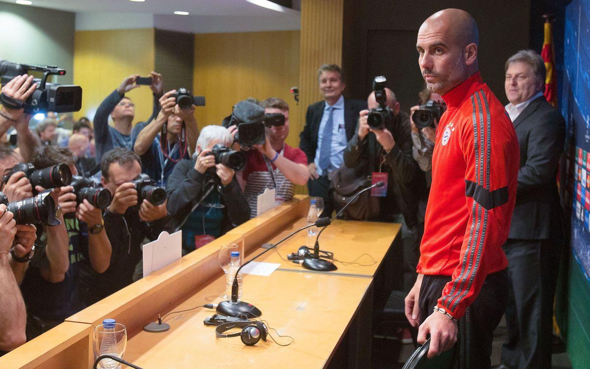 LIVE - Pep Guardiola press conference at Munich
