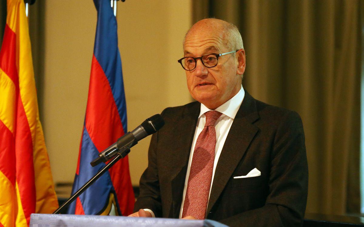 El vicepresident Carles Vilarrubí, distingit amb la Creu de Sant Jordi
