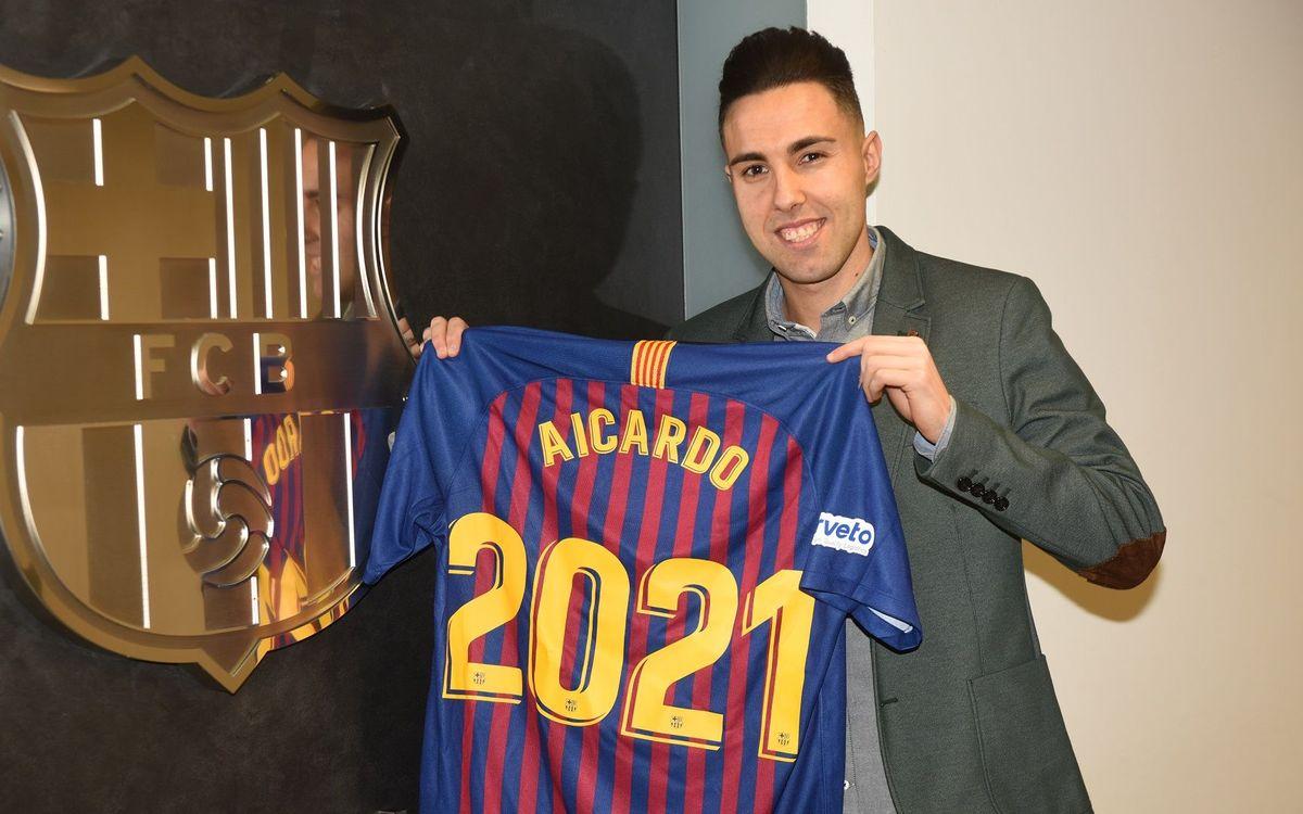 Aicardo seguirá dos temporadas más en el Barça Lassa