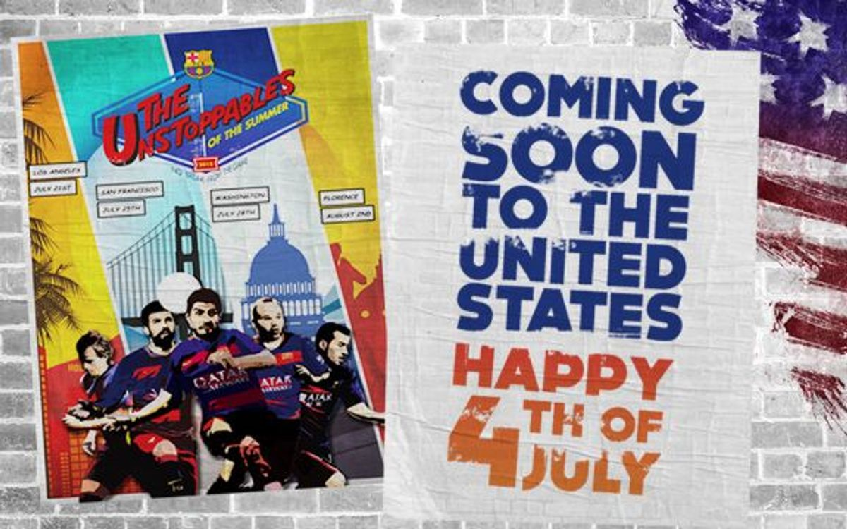 Best wishes to FC Barcelona's fans in the US on the Fourth of July