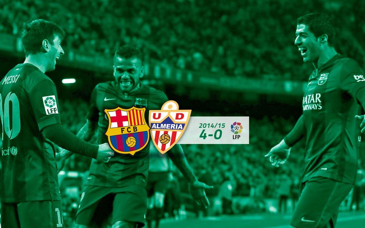 FC Barcelona: 4 - Almeria: 0