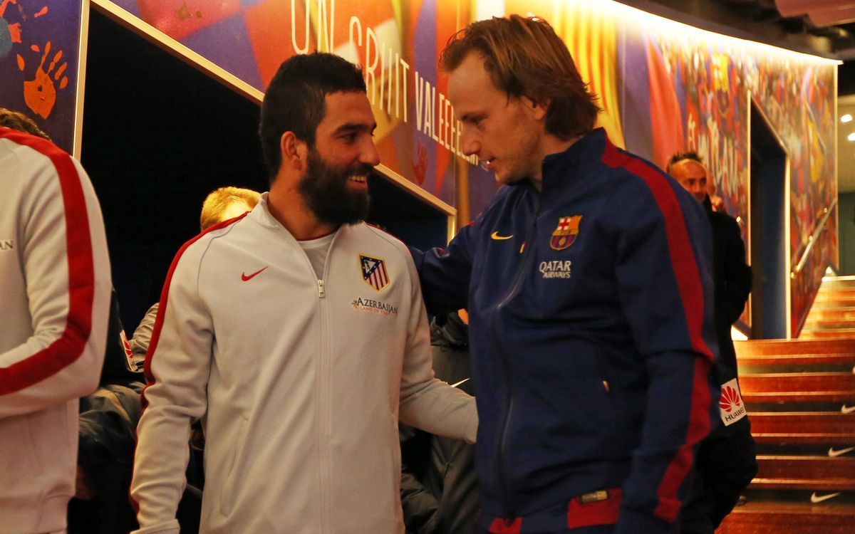 Ivan Rakitic against Arda Turan in 2018 World Cup qualifying