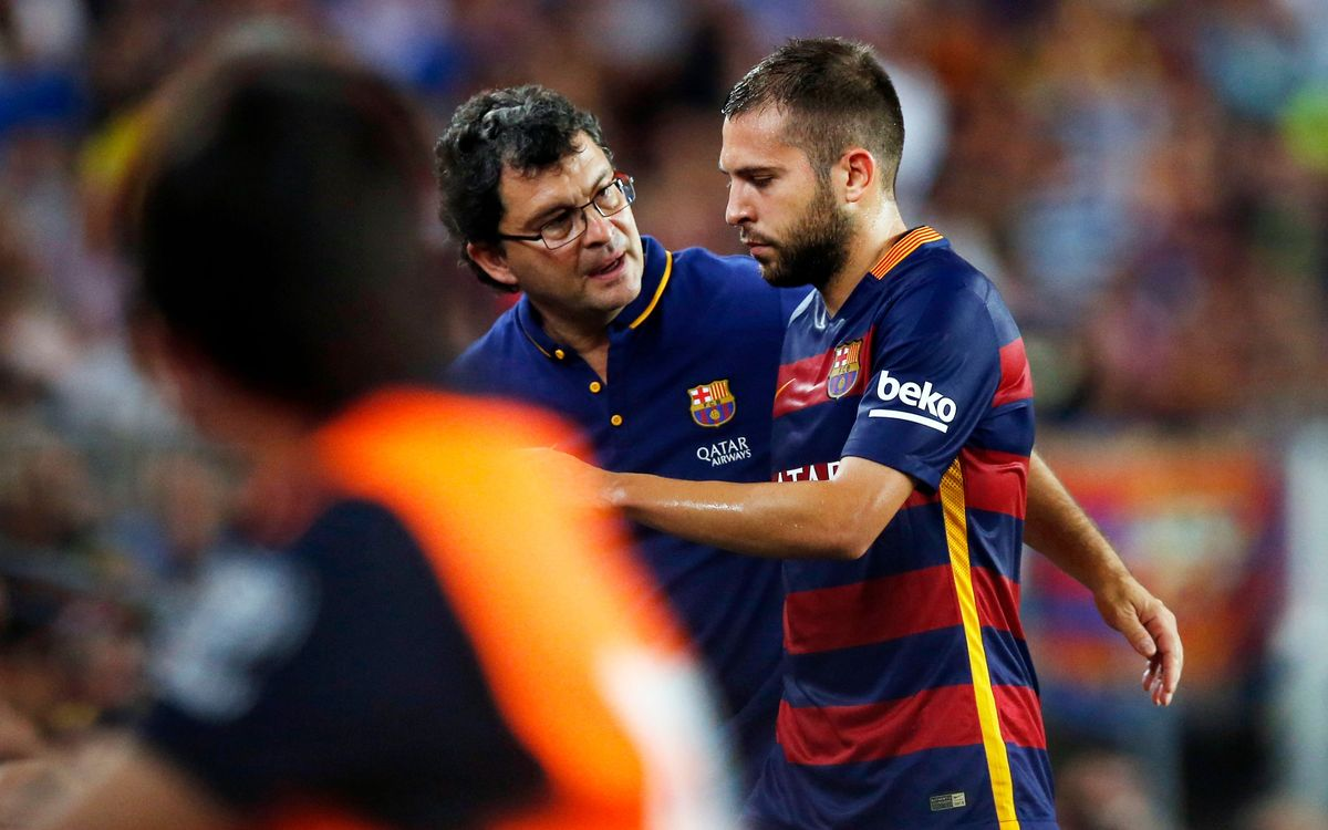 Jordi Alba out 10 to 15 days