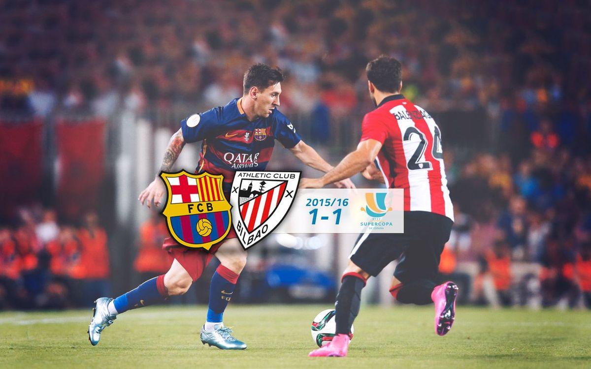 FC Barcelona: 1 - Athletic Club: 1