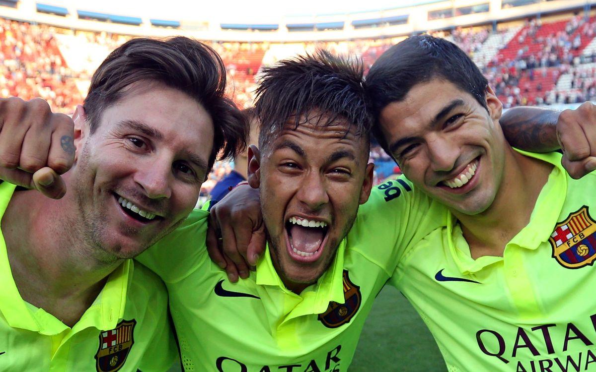 Messi, Suárez and Neymar Jr -Europe's top strike force