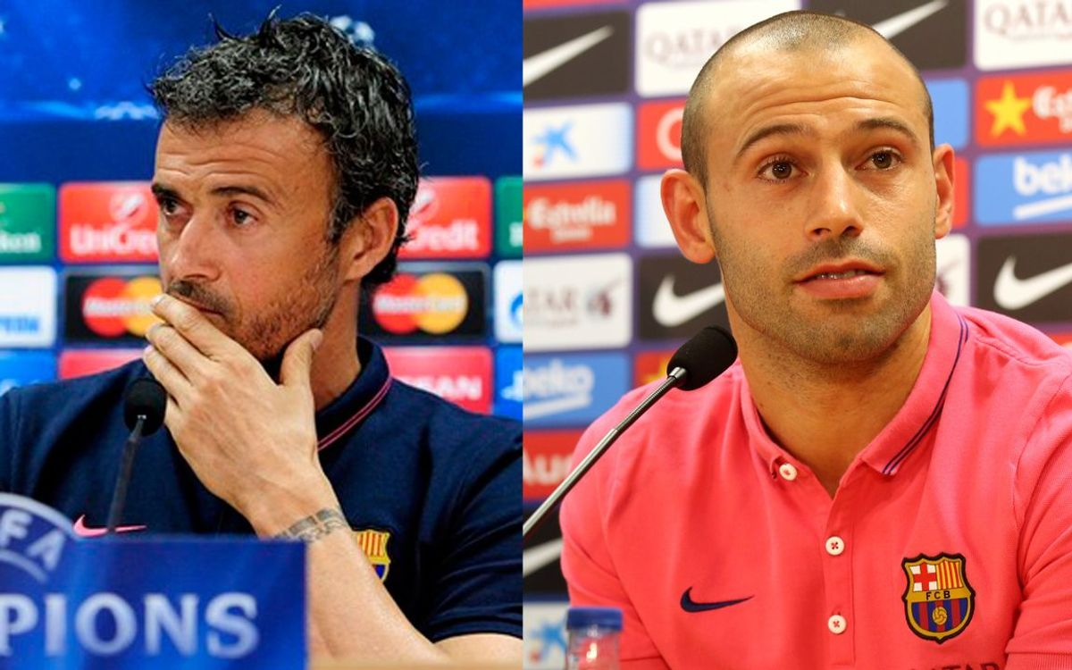 LIVE - Luis Enrique and Javier Mascherano's press conference