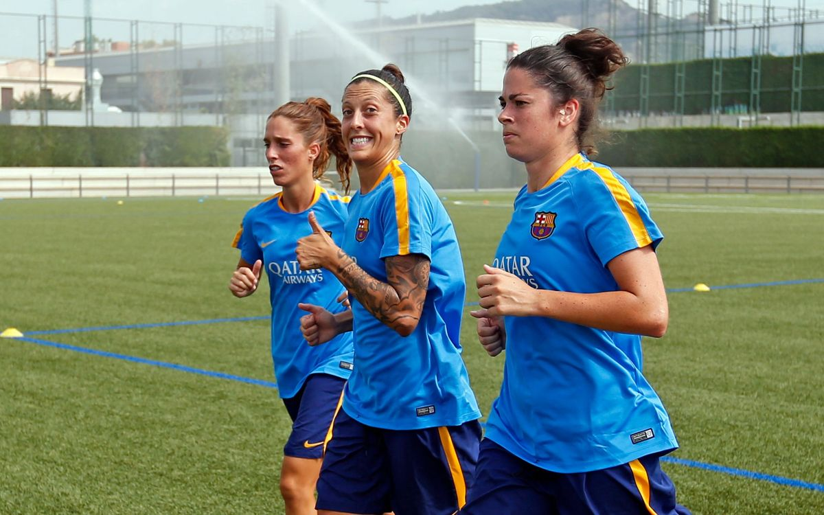 First training sessions for the Women's team