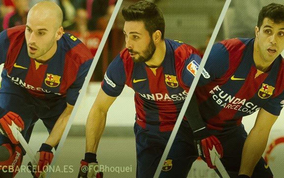 Reinaldo García, Marc Torra i Raül Marín no continuaran al Barça d'hoquei