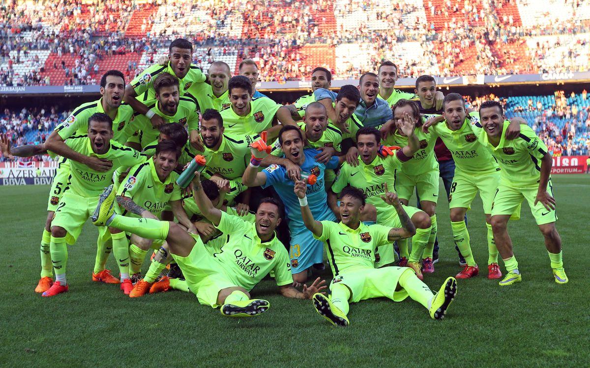 Atlético Madrid v FC Barcelona: Title taken at the Calderón (0-1)