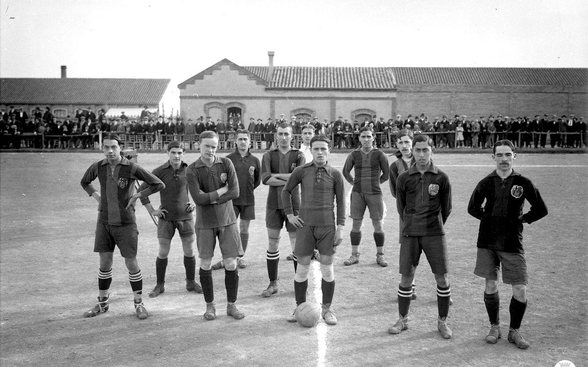 Fotografies inèdites d'un Espanyol-FC Barcelona de fa 100 anys