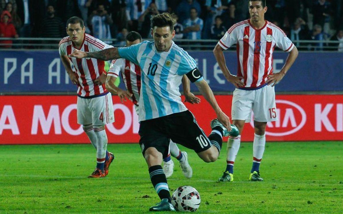Messi, buteur, ne peut éviter le match nul de l'Argentine contre le Paraguay (2-2)